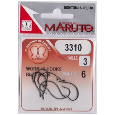 MARUTO 3310 Black Niquel Hook