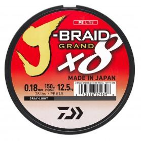 Tresse Daiwa J-Braid GRAND Grise 135m