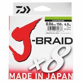 Daiwa J-Braid 8x Chartreuse